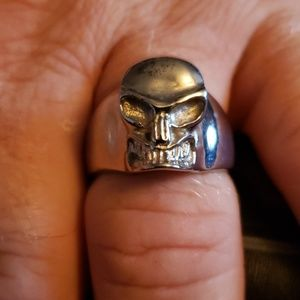 NWT Stainless Steel growling skull ring